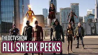 Download The Flash, Supergirl, Arrow, Legends of Tomorrow 4 Night Crossover All Sneak Peeks Video