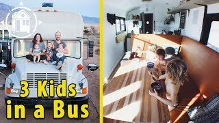 Download Family Downsizes to a School Bus to Live on the Road Video
