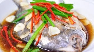 Download [Thai Food] Steamed White Pomflet with Soy Sauce (Pla Ja Ra Med Neung Si-Eew) Video
