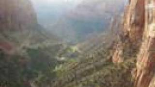 Download Man jumps from top of Zion Overlook Trail Video