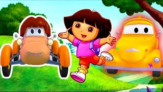 Download Tom The Tow Truck's Paint Shop: Katie is Dora the Explorer | Truck and car cartoons for kids Video