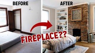 Download INSANE Bedroom Transformation! I FIND A HIDDEN FIREPLACE! Video