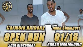 Download Carmelo Anthony Shuts down Open Run vs Iman Shumpert Video