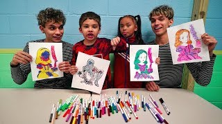 Download 3 MARKER CHALLENGE w/ our LITTLE BROTHER and LITTLE SISTER!! Video