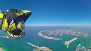 Download Wingsuit 360 degree video over Dubai Video