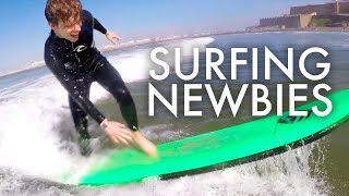 Download THE KNORPP'S LEARN TO SURF : Traveling Family of 11 Video