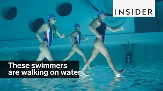 Download These swimmers are walking on water Video