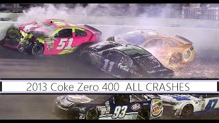 Download All NASCAR Crashes from the 2013 Coke Zero 400 Video