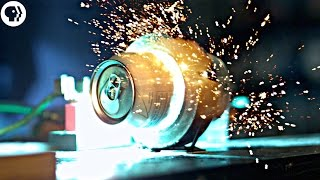 Download Exploding soda cans with electromagnets in SLOW MOTION ft Joe Hanson Video