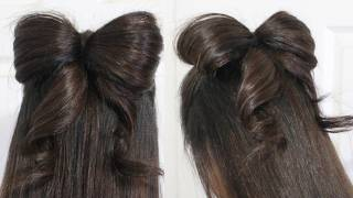 Download Hair Bow Tutorial Hairstyle Half-Updo for Medium Long Hair Video