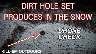 Download Dirt-Hole Set Produces In The Snow (Drone Check) Video