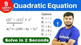 Download Quadratic Equation Tricks | Quadratic Equation Shortcuts for SBI Video