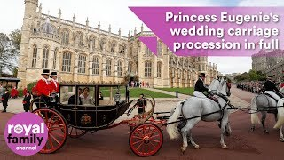Download Princess Eugenie's wedding carriage procession in full Video