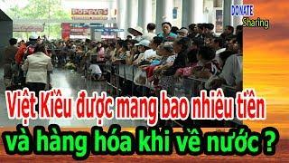 Download Việt Kiều được mang bao nhiêu tiền và hàng hóa khi về nước ? - Donate Sharing Video