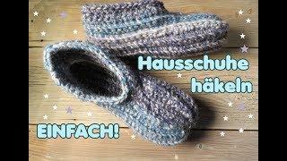 Download HAUSSCHUHE häkeln - Anleitung - super einfach! *Carolines Welt* Video