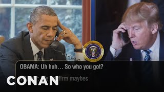 Download Trump Calls Obama To Talk Inauguration Guests - CONAN on TBS Video
