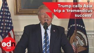 Download Trump calls Asia trip a 'tremendous success' Video
