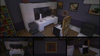 Comment faire un salon et une chambre moderne Minecraft Free ...