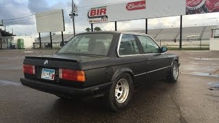 Download Wheelstanding BMW E30 turbo m50 drag race, 10.0 @ 139.5 Video
