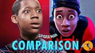 Download Spider-Man Into the Spider-Verse - Live Action Style! Side by Side Comparison Video