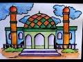 Download cara menggambar pemandangan masjid Video