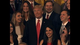 Download Trump Scolds Press During Intern Photo-Op Video
