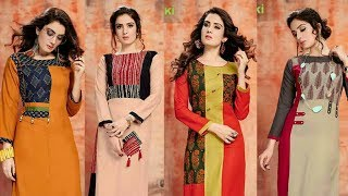 Download Designer Long Rayon Kurti | Stylish Fancy Embroidered Double Layer Kurti For women's | Trendy India2 Video