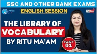 Download VOCABULARY | THE LIBRARY OF VOCABULARY PART 1 | SSC & BANK EXAMS | Ritu mam Video