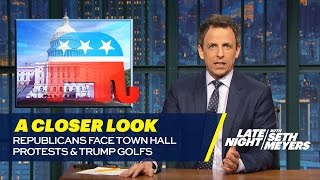 Download Republicans Face Town Hall Protests, Trump Golfs: A Closer Look Video