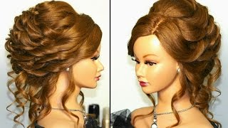 Download Romantic bridal, wedding hairstyle for long hair. Tutorial Video