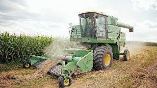 Download Making Straw - John Deere 6620 & 912 Belt Pickup Head Video