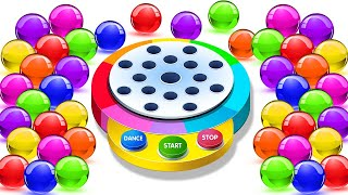 Download Learn Colors With Dancing Balls On Finger Family Song by KidsCamp Video