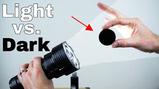 Download The Worlds Blackest Black vs The Worlds Brightest Flashlight (32,000 lumen)—Which Will Win? Video