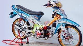 Download Motor Trend Modifikasi   Video Modifikasi Motor Suzuki Shogun R 110 Airbrush Drag Racing Style Video