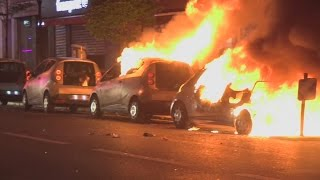 Download Riots in Paris: Cars burned in French election protests Video
