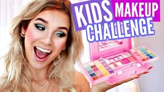 Download FULL FACE USING ONLY KIDS MAKEUP Challenge!! Video