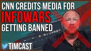 Download CNN Credits Media For The Banning of Alex Jones / Infowars Video