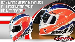 Download Icon Airframe Pro Maxflash Full Face Motorcycle Helmet Review Video
