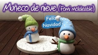 Download Muñeco de Nieve de Fomi o Goma Eva moldeable , Snowman of Moldable Eva Foam Video