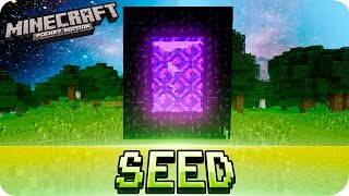 Download Minecraft PE Seeds - EASIEST NETHER PORTAL SEED - MCPE 1.1 - 0.12.0 Video