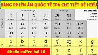 Download Học Phát Âm Tiếng Anh - Bảng Phiên Âm Quốc Tế IPA - Phát Âm Phụ Âm Tiếng Anh - Hello Coffee Bài 10 Video
