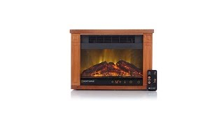 Download Heat Surge Mini Glo Digital LED Fireplace with Remote Video
