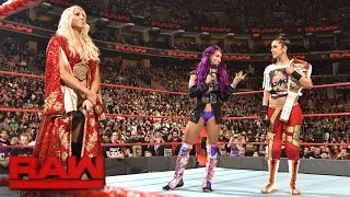 Download Charlotte Flair tries to drive a wedge between Bayley and Sasha Banks: Raw, March 27, 2017 Video