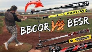 Download 450FT DINGER HITS A HOUSE!? ILLEGAL BAT VS LEGAL BAT HOMERUN DERBY! (INSANE POWER) Video