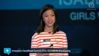 Download Social Good Summit 2016: 13 year-old coder Isabel Sieh on technology and the future Video