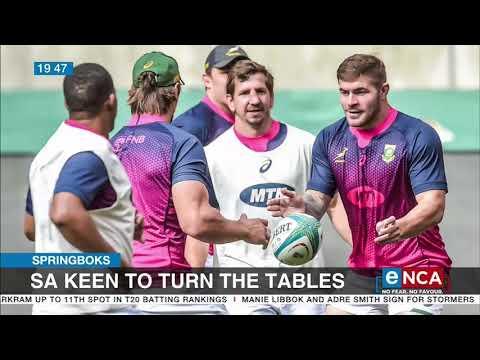 Springboks keen to turn the tables on Australia