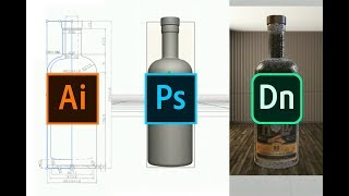 Download Create 3D objects (.OBJ) using Illustrator & Photoshop for Adobe Dimension product mock-ups Video