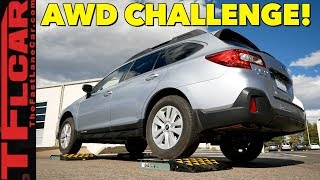 Download The Truth About Subaru's Symmetrical All Wheel Drive:TFL Slip Test vs Subaru Outback Video