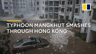 Download Typhoon Mangkhut smashes through Hong Kong Video