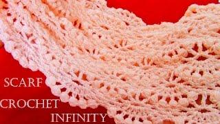 Download Como tejer bufanda infinita circular tubular fácil en puntos originales - Knit scarf infinity Video